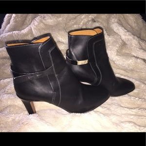 CHLOE Leather Ankle Boots Size 9 /2